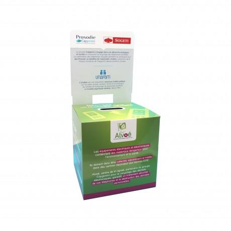 Urnes en carton avec fronton personnalisées