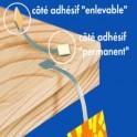 Twister métal pour stop rayon - 3 adhésifs