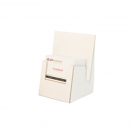Présentoir pour carte de visite en carton blanc