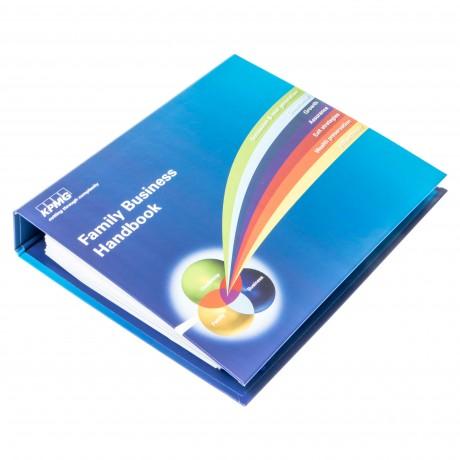 D12-01550-J.FONTVIEILLE-700 CLASSEUR CARTON PUBLICITAIRE 2 ANNEAUX DOS 35 IMP R° et V°