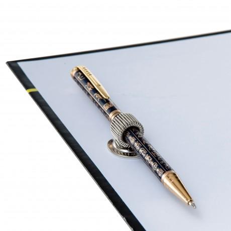 Clip porte crayon métal adhésif