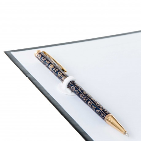 Clip porte crayon plastique adhésif