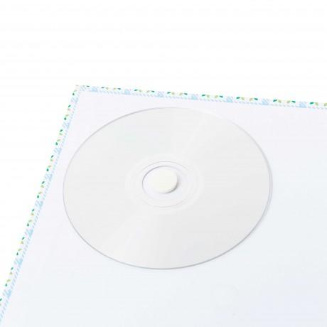 Clips adhésifs en mousse pour support CD