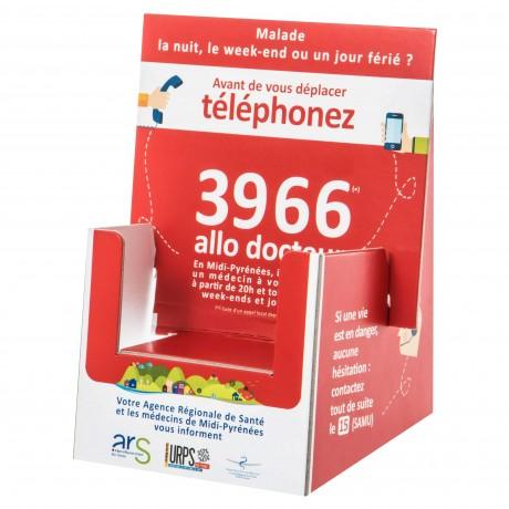 D01-015-LR COMMUNICATION - 5000 Présentoirs carton pour carte de visite- Franco 1  point 34