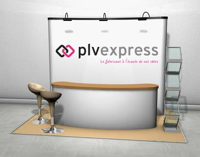 quel stand choisir pour un salon plv express. Black Bedroom Furniture Sets. Home Design Ideas