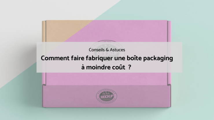 Boite packaging en carton.